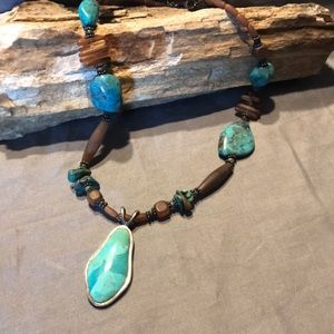 Barse Sterling and Turquoise Necklace